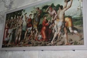 - Steinigung  de saint Etienne 1550