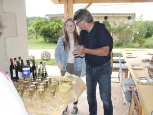 vorher : Champagner ,  serviert von Stefan + Sarah